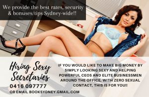 Sexy Secretaries Needed! ♦ Call 0416 097777 ♦